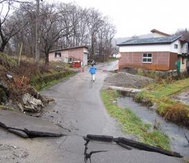 城山地区地震被害
