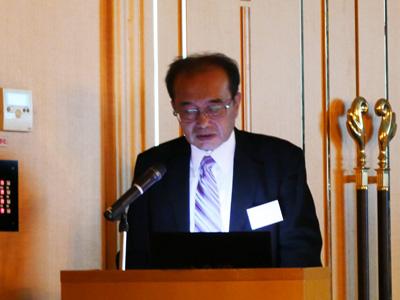 桜島の活動状況について報告する井口センター長
