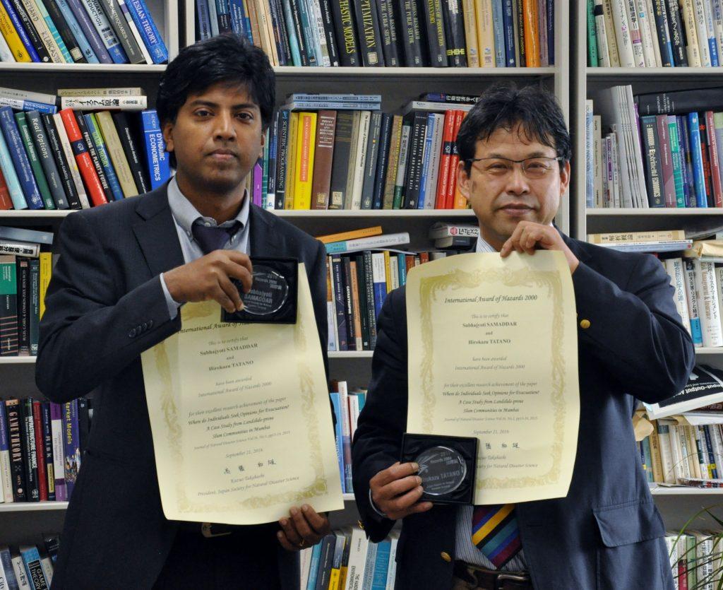 左からSamaddar准教授、多々納教授
